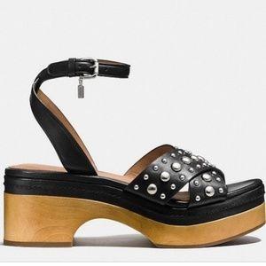 Coach Astor studded criss-cross platform sandal